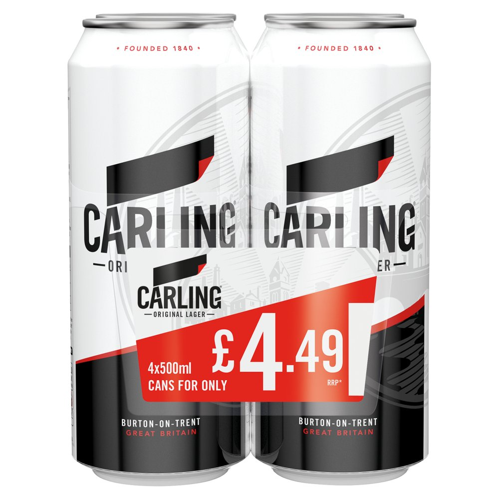 Carling Lager PM 4 For £4.49