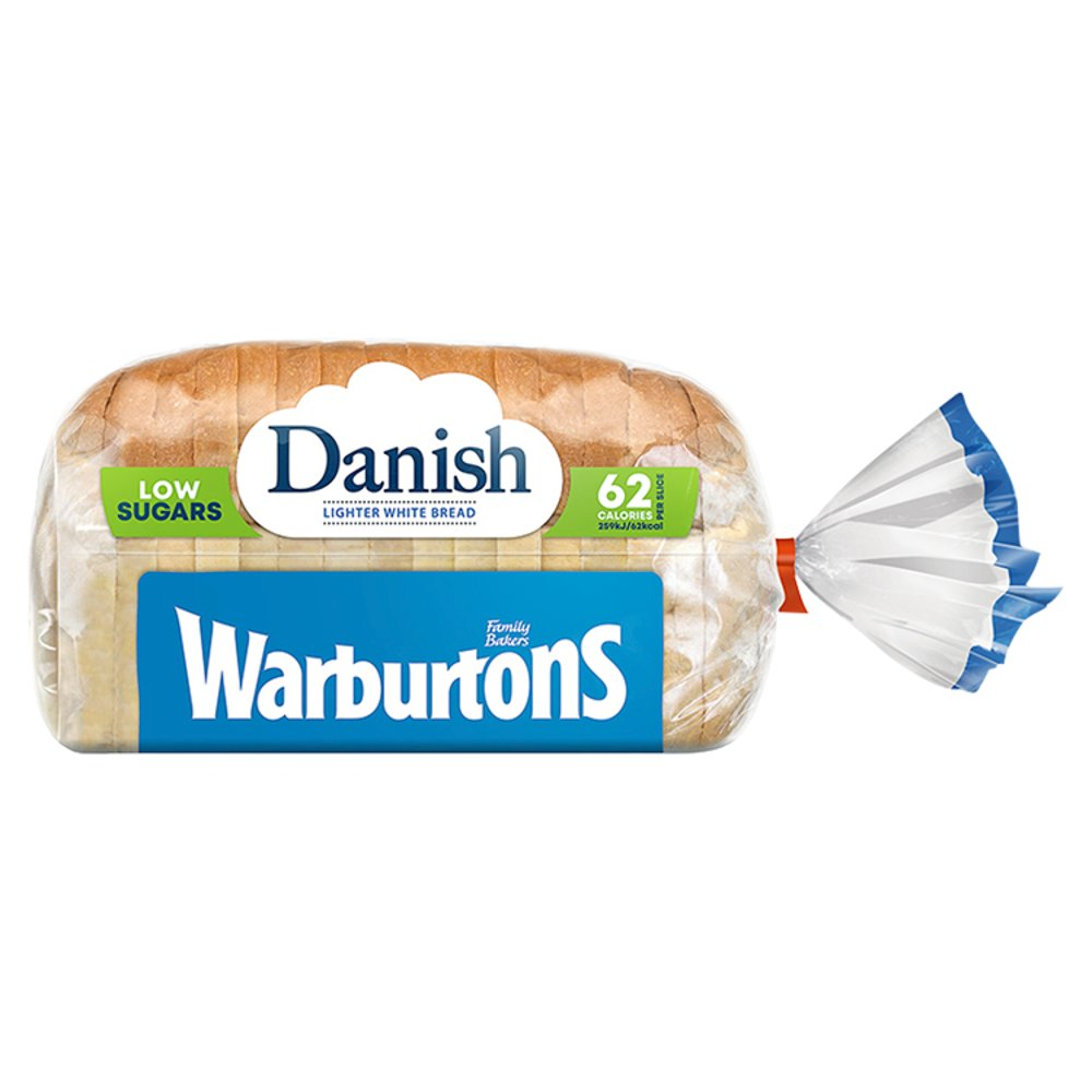 Warburtons Danish White Sliced