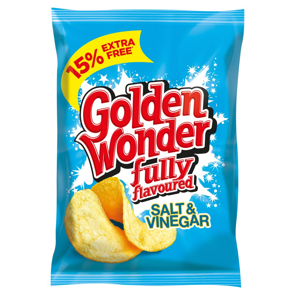 Golden Wonder Crisp Salt & Vinegar 15percent Extra