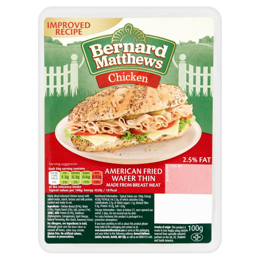 Bernard Matthews American Fried W/T Chicken £1