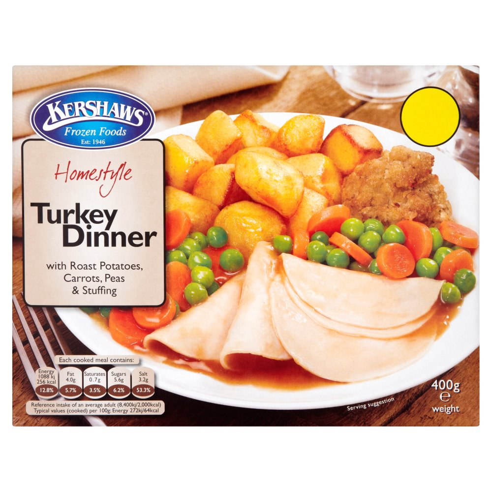 Kershaws Turkey Dinner PMP £1.69