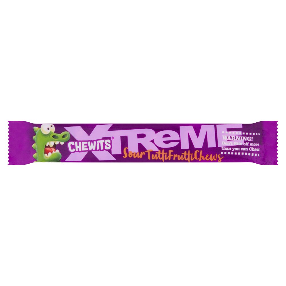 Chewits Xtreme Sour Tutti Frutti Chews 34g