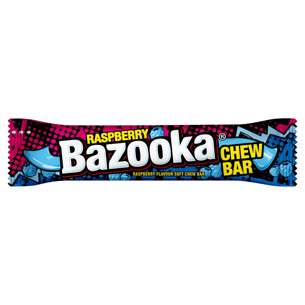 Bazooka Raspberry Flavor Soft Chew Bar 14g