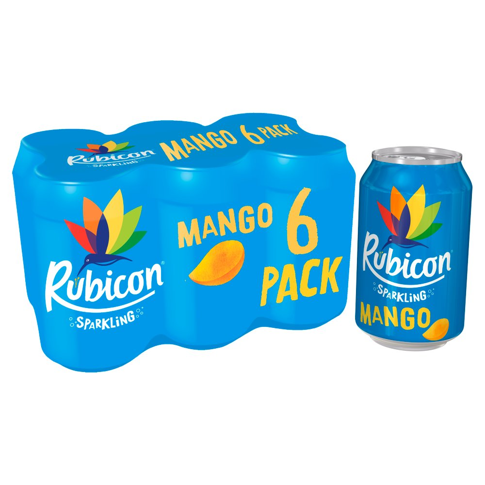 Rubicon Sparkling Mango Juice Drink 6 x 330ml Cans