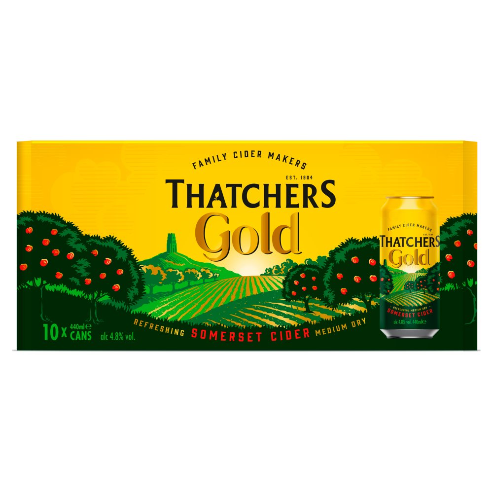 Thatchers Gold Cider 10 x 440ml