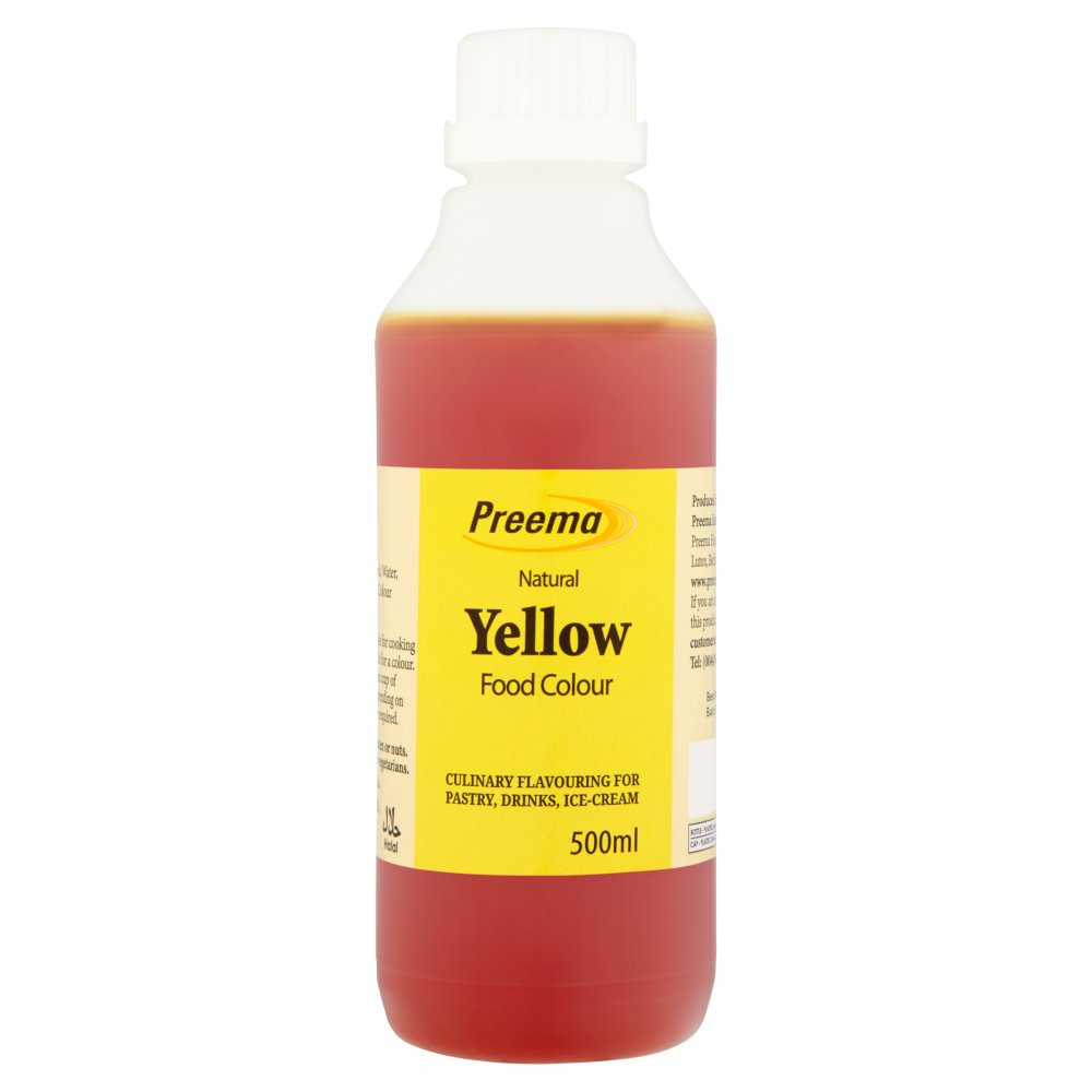 Preema Natural Yellow Food Colour 500ml :: Bestway Wholesale