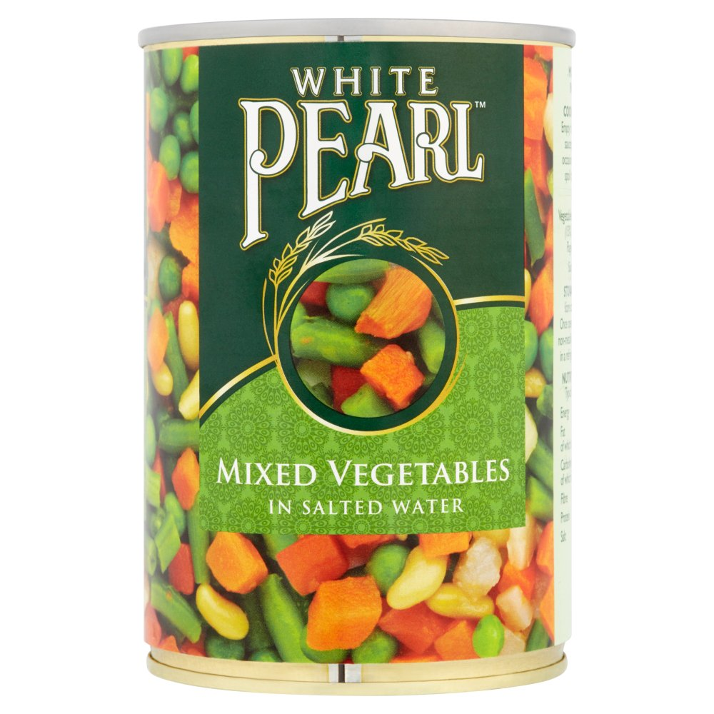 White Pearl Mixed Vegetables in Salted Water 400g