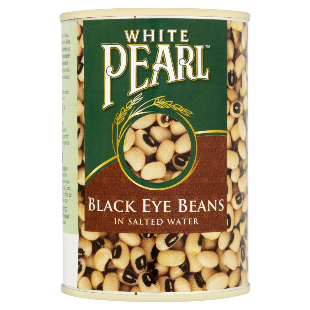 White Pearl Black Eye Beans in Salted Water 400g