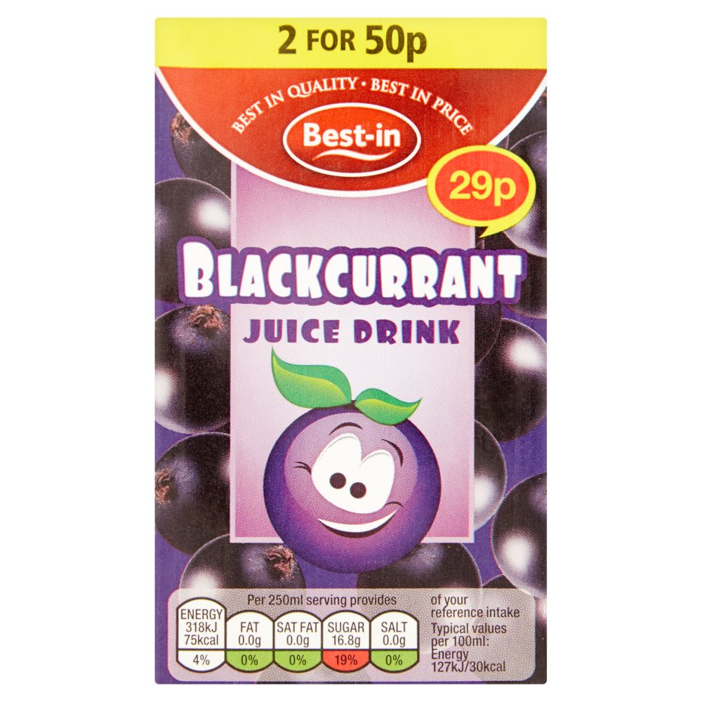 Bestin Blackcurrent Drink 29p