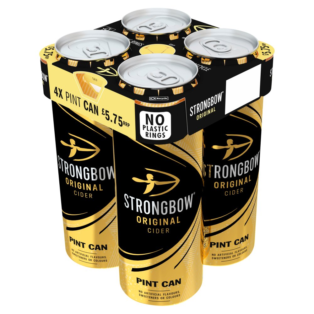 Strongbow Original Cider 4 x 568ml Can