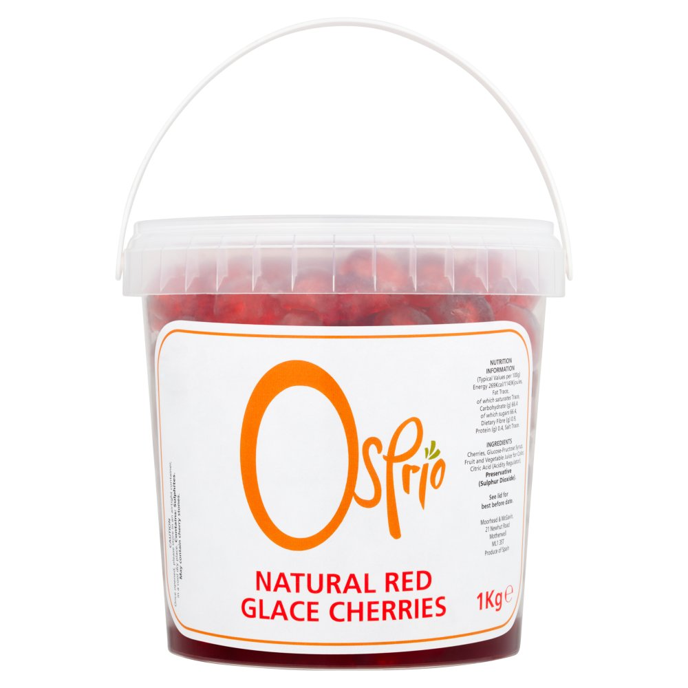 Osprio Natural Red Glace Cherries