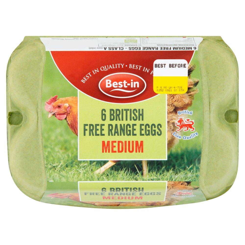 Best-in 6 British Free Range Eggs Medium