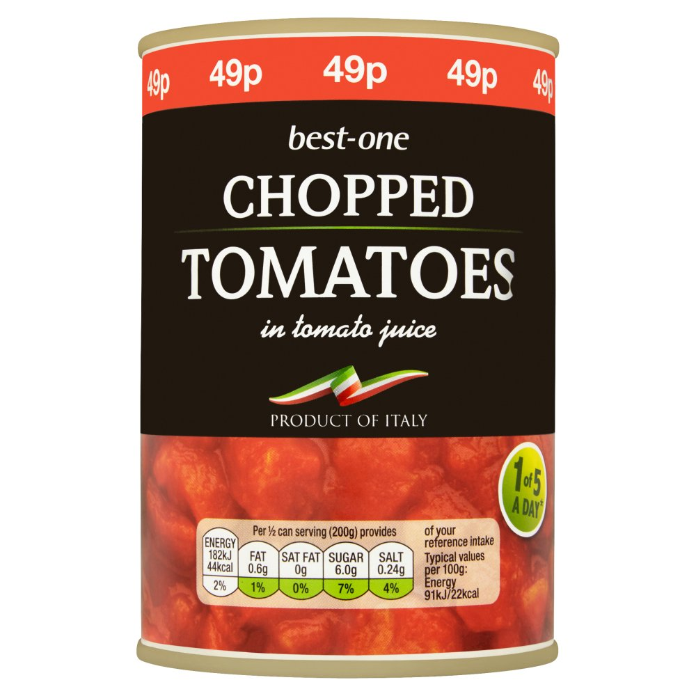 Best-One Chopped Tomatoes in Tomato Juice 400g
