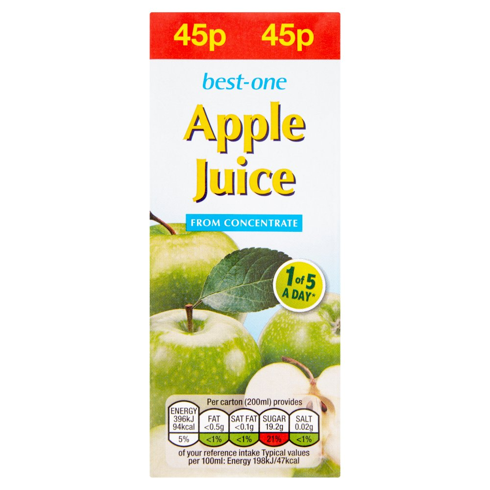 Best-One Apple Juice from Concentrate 200ml