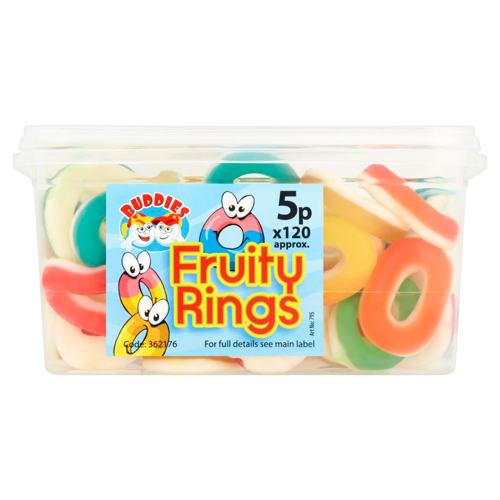 Buddies Fruit Flavour Sweets Fruity Rings