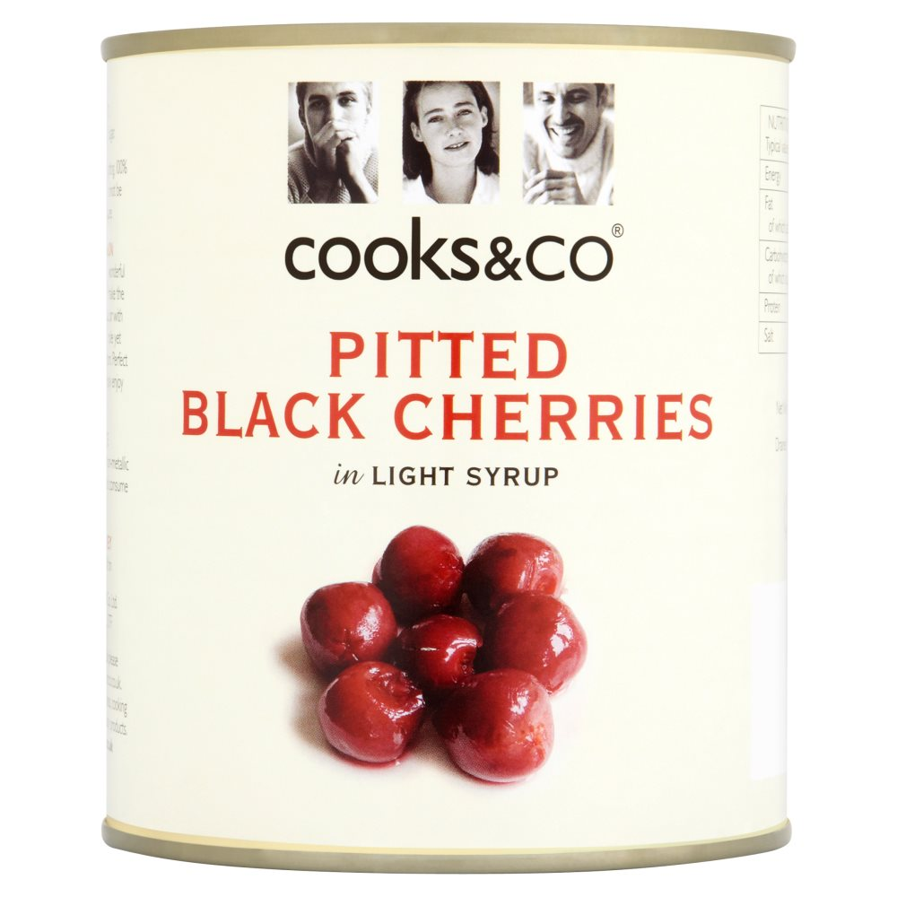 Cooks & Co Pitted Black Cherries