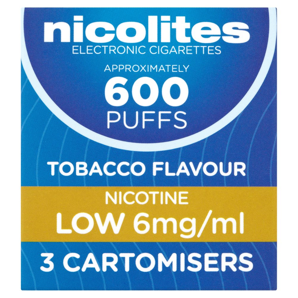 Nicolites Cartomisers Tobacco Flavour Low(6Mg)