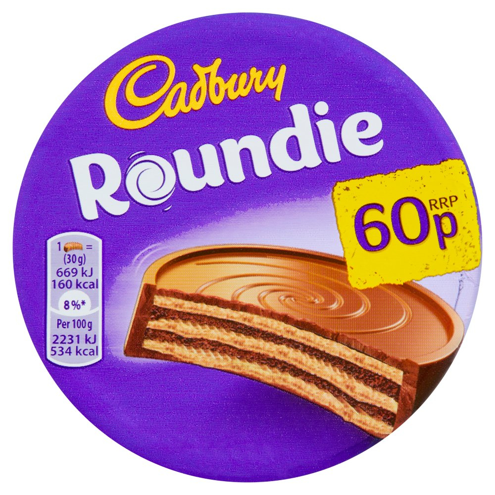Cadbury Roundie Milk Chocolate Biscuit 60p 30g