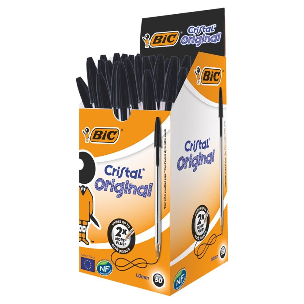 BIC Cristal Black Pens 50 Pack