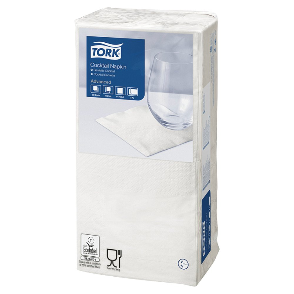 Tork Cocktail Napkin White