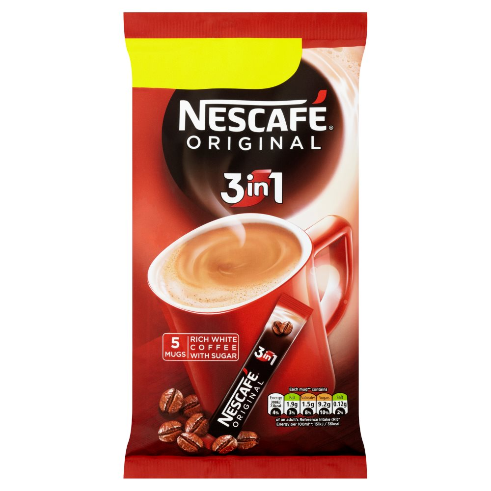 Nescafe Orig 3In1 Instant Coffee 5sachets PM£1