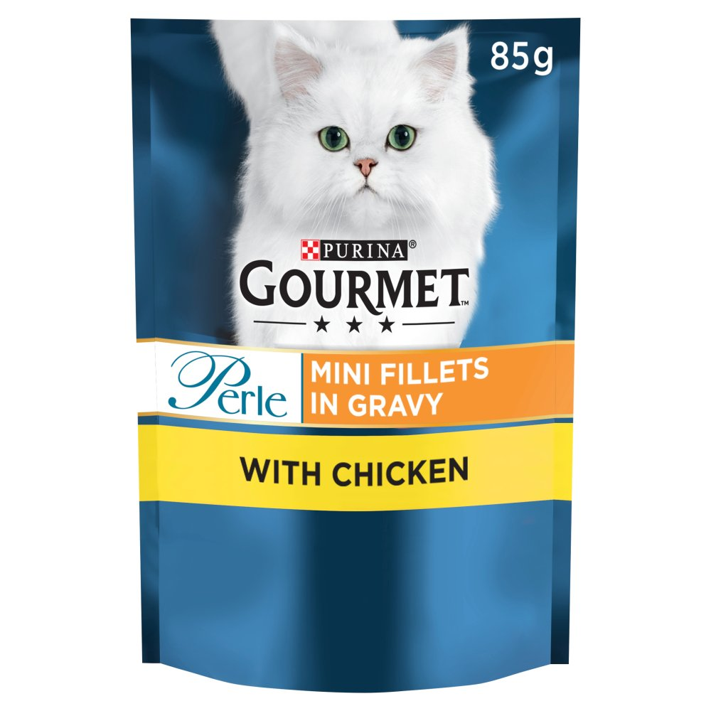 Gourmet Perle Cat Food Mini Fillets Chicken in Gravy 85g
