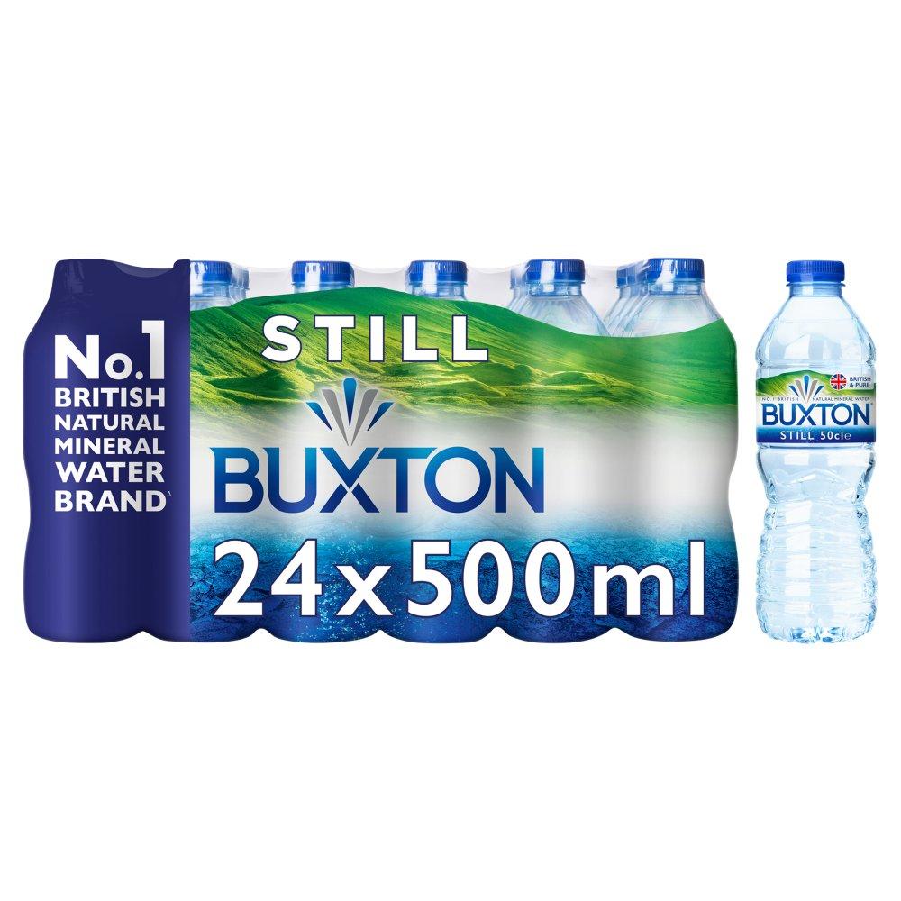 Buxton Natural Mineral Still Water 24x500ml