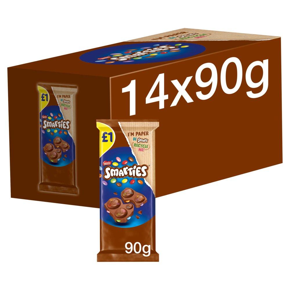 Smarties Milk Chocolate Sharing Block 90g £1