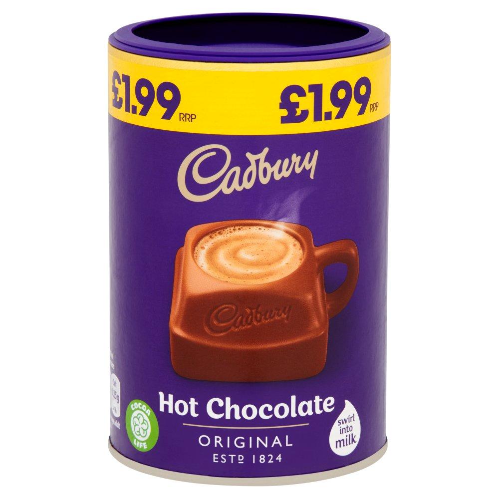 Cadbury Drinking Hot Chocolate £1.99 250g