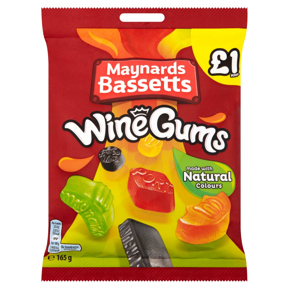 Maynards Bassetts Wine Gums £1 Sweets Bag 165g