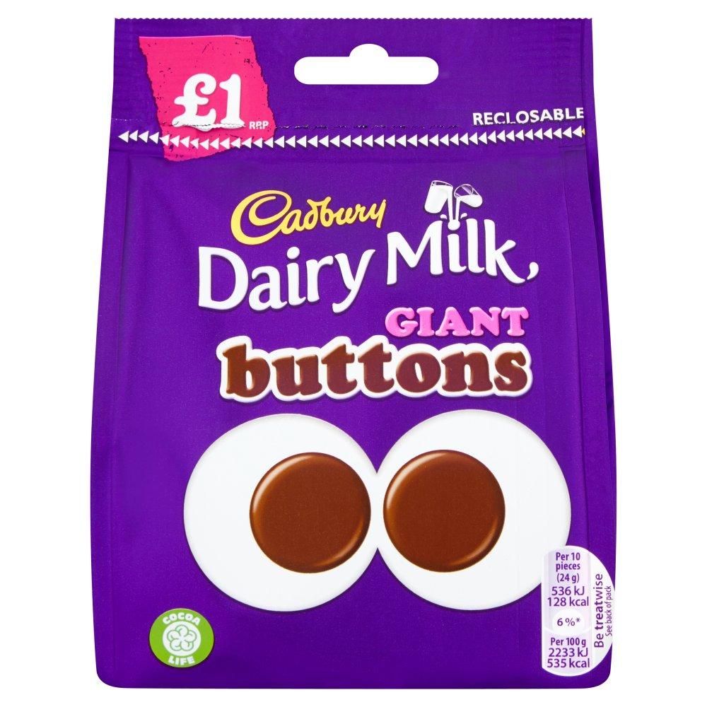 Cadbury Dairy Milk £1 Giant Buttons Chocolate Bag 95g