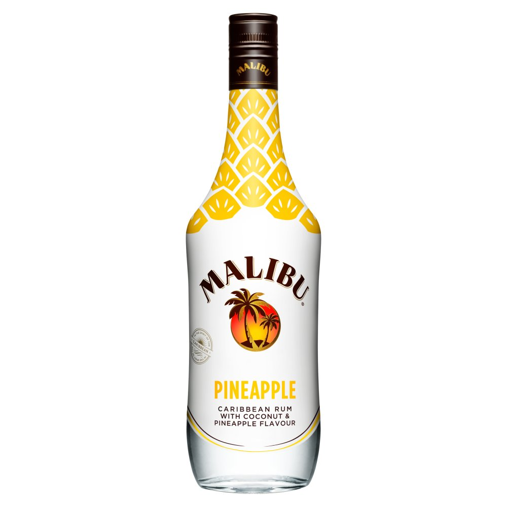 Malibu White Rum With Coconut And Pineapple Flavour 70cl
