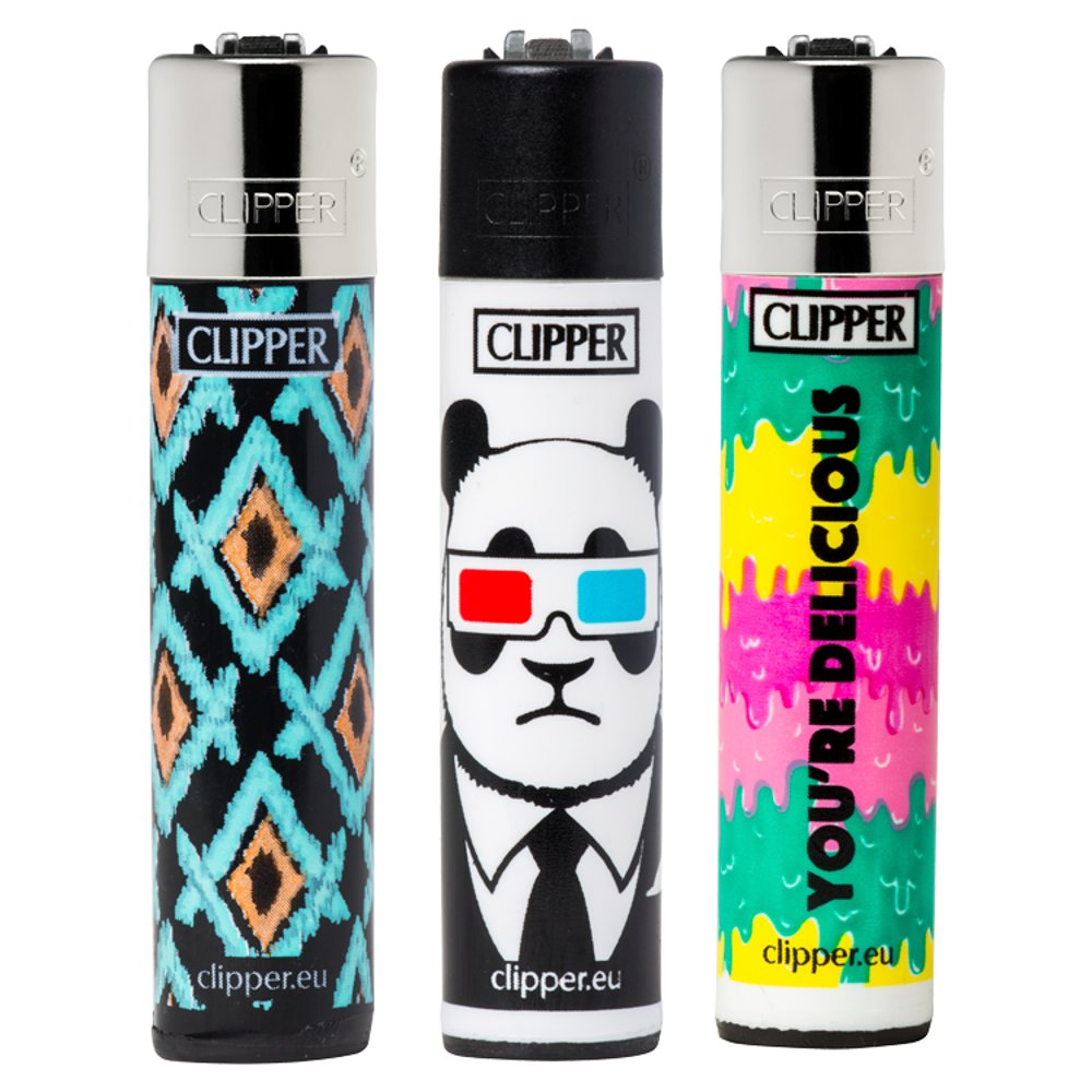 Clipper Mixed Design Lighters