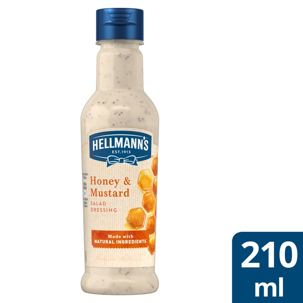 Hellmann's Honey and Mustard Salad Dressing 210ml