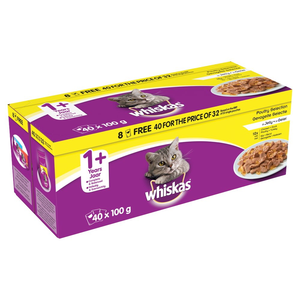 Whiskas Pouch Poultry 40/32 100g