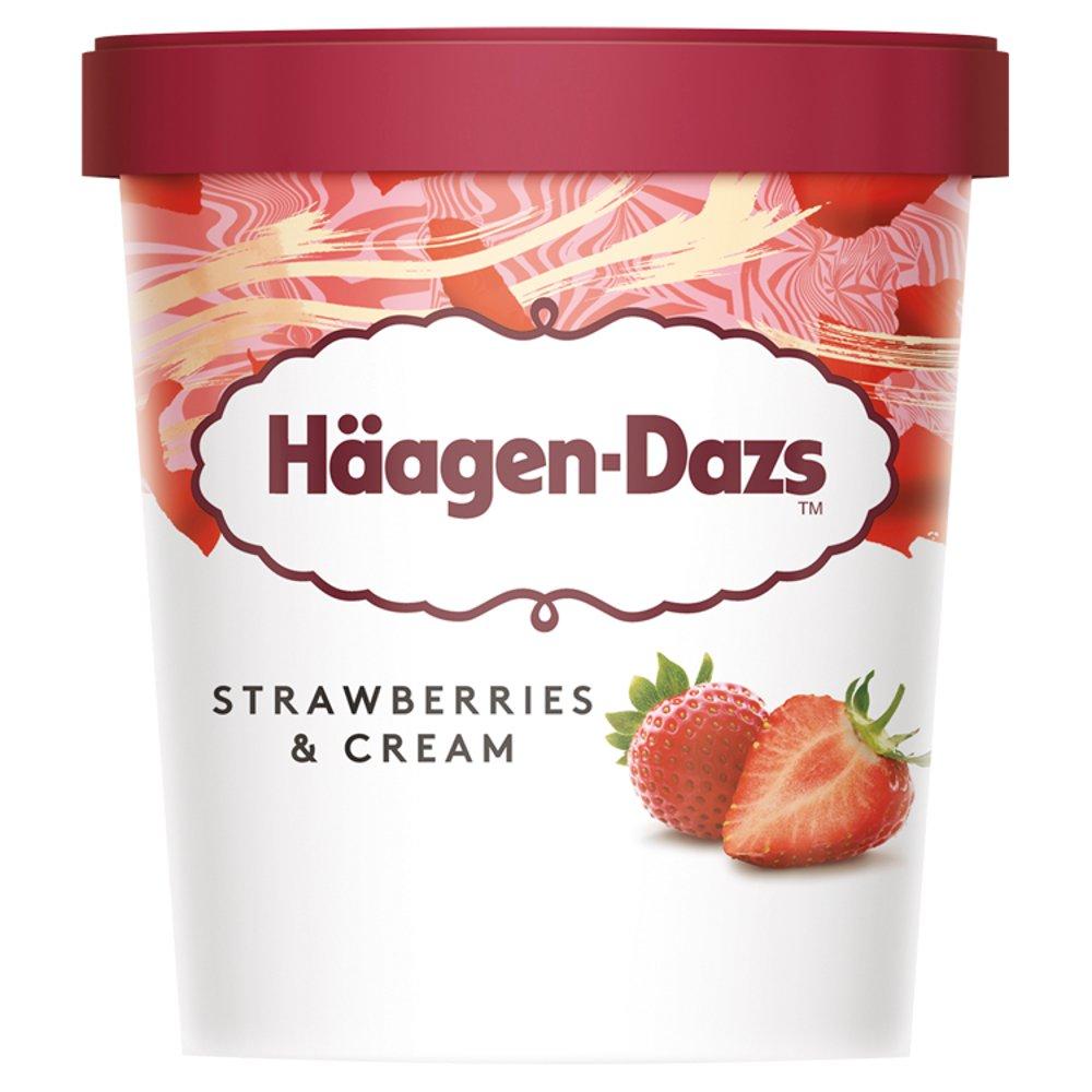 Häagen-Dazs Strawberries & Cream Ice Cream 460ml
