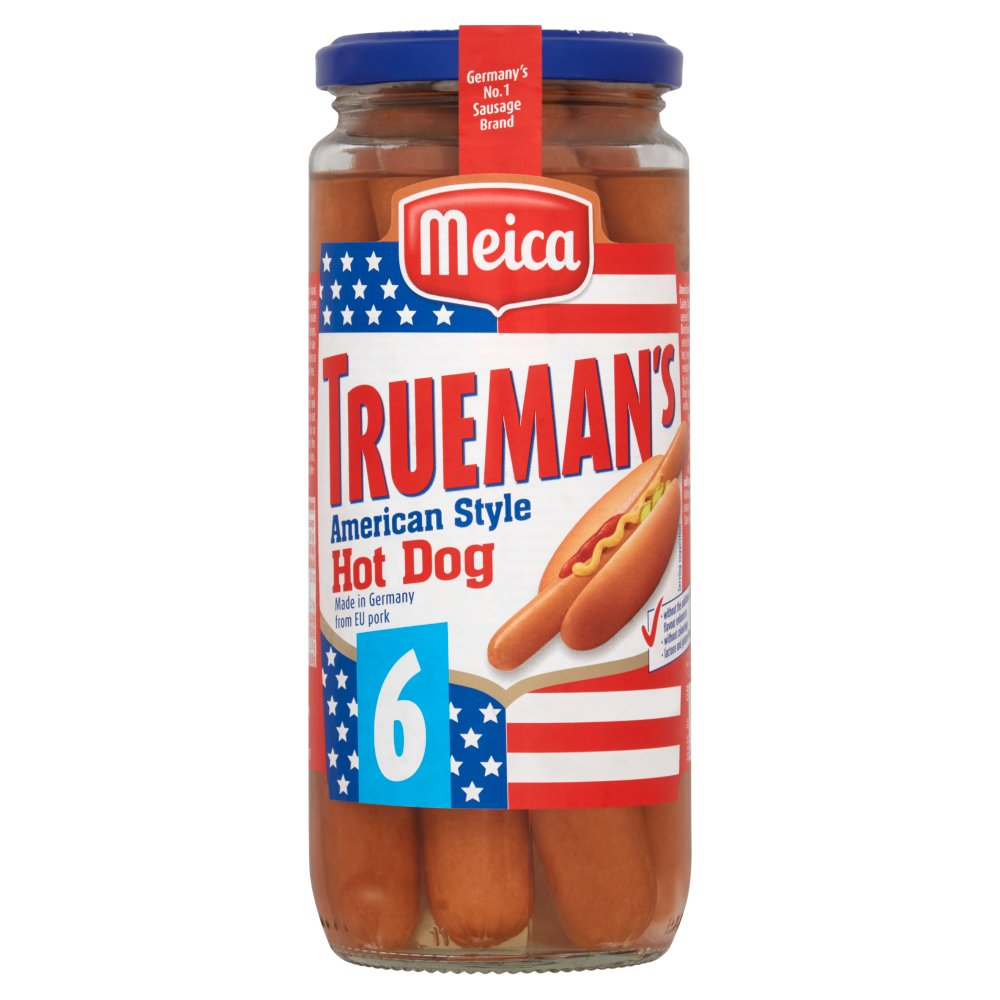 Meica Trueman's 6 American Style Hot Dog 540g