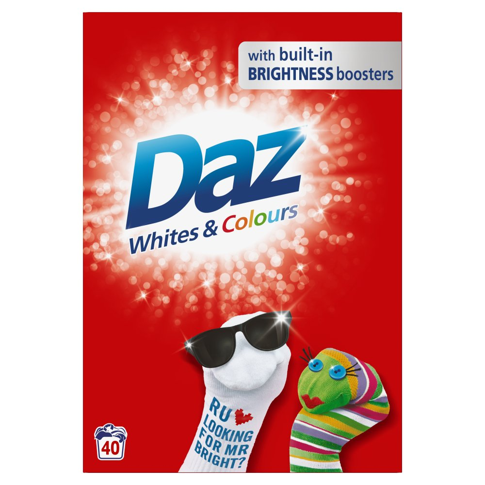 Daz Washing Powder Whites & Colours 2.6Kg 40 Washes