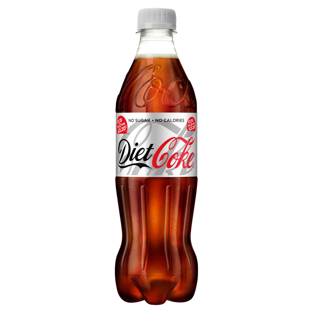 Diet Coke 500ml PM £1.15 or 2 for £2.20