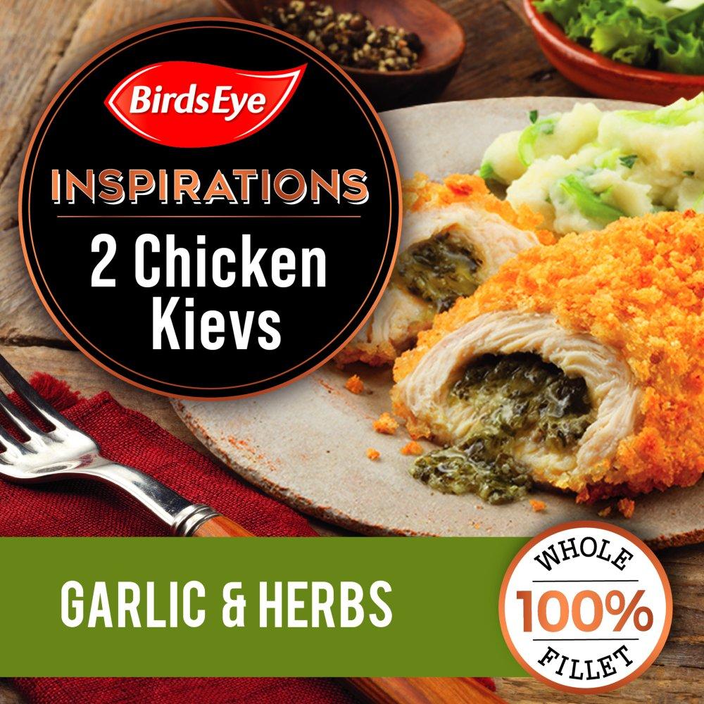 Birds Eye 2 Inspirations Chicken Kievs with a Garlic & Herb Filling 300g