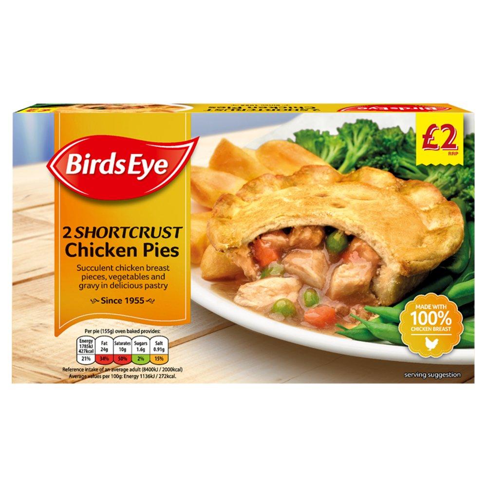 Birds Eye 2 Shortcrust Chicken Pies 310g