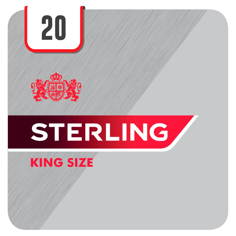 Sterling King Size 20 Cigarettes Track & Trace Compliant