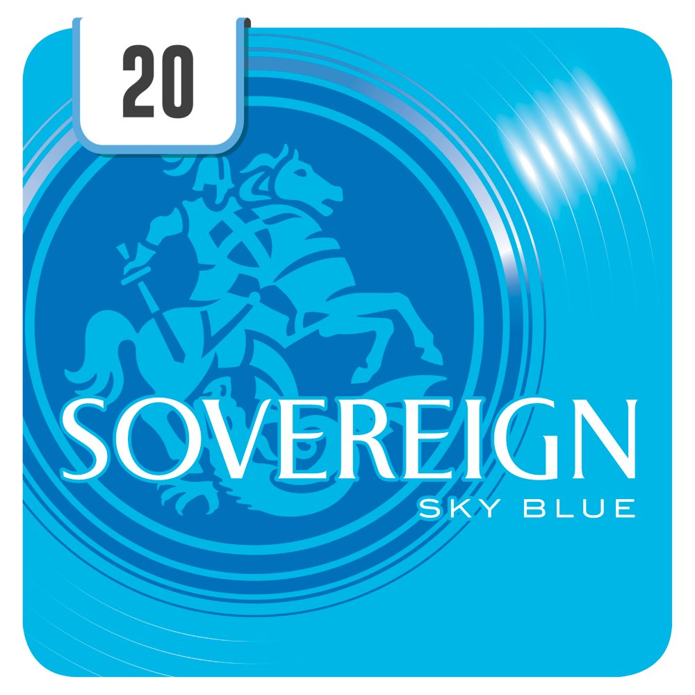 Sovereign Sky Blue 20 Cigarettes Track & Trace Compliant