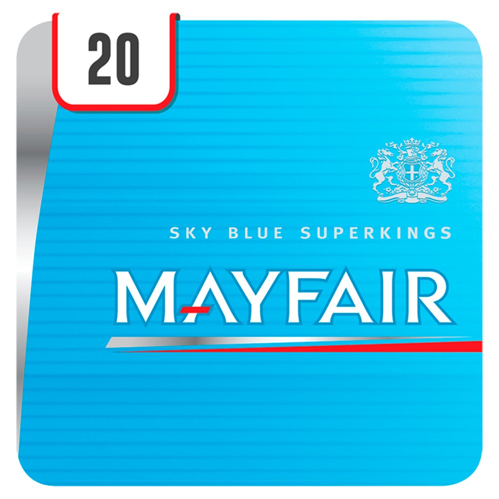 Mayfair Superkings Sky Blue 20 Cigarettes