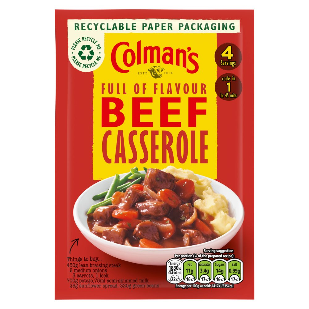 Colman's Casserole Mix Traditional Beef