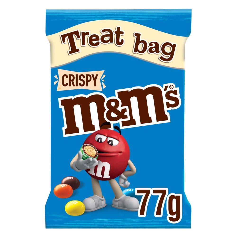 M&M's Crispy Chocolate Treat Bag 77g