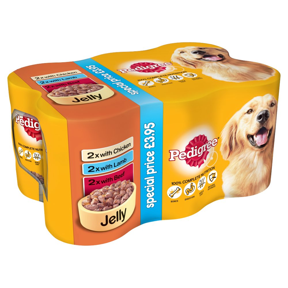 PEDIGREE Dog Tins Mixed Selection in Jelly 6 x 385 (2310g)