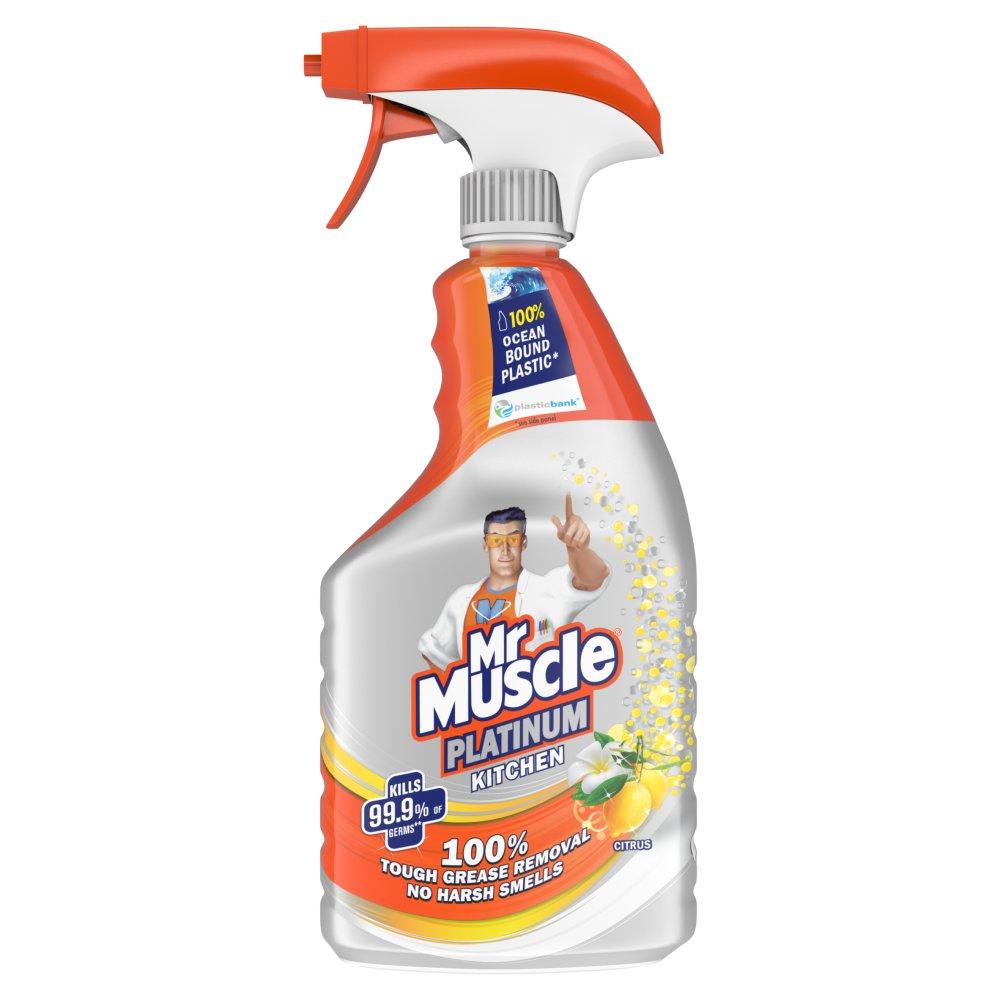 Mr Muscle Platinum Antibacterial Kitchen Spray Citrus 750ml