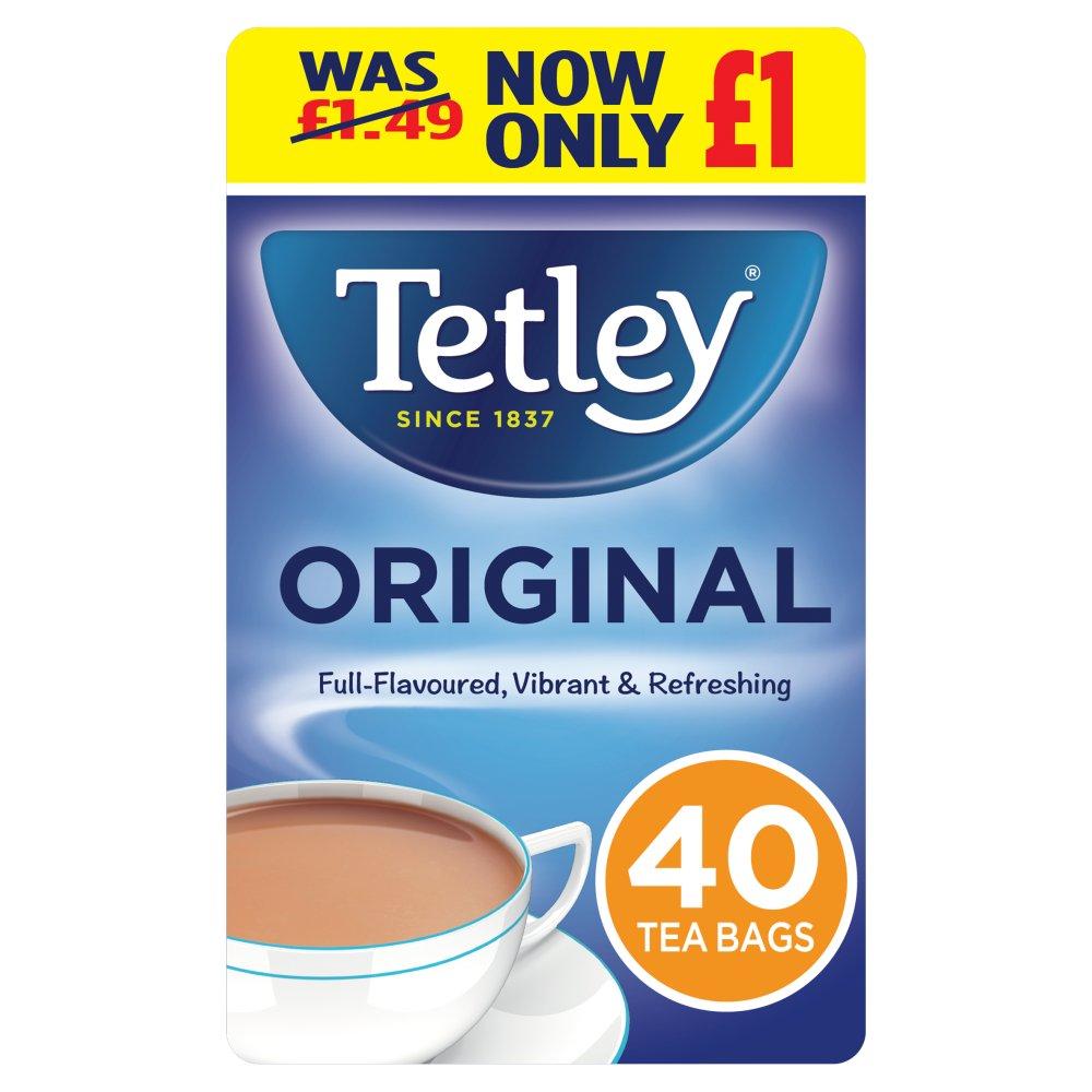 Tetley Original PMP Tea Bags x40