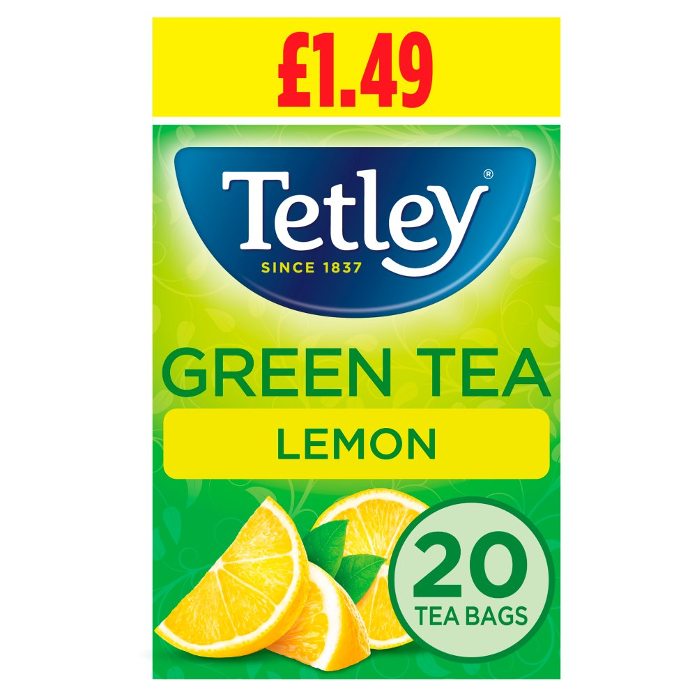 Tetley Lemon Green Tea Bags PMP x20